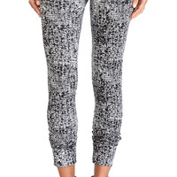 Michael Lauren Joey Skinny Zipper Sweatpant in Black & White