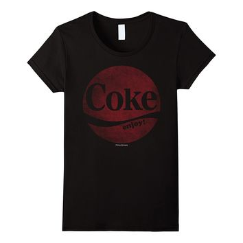 Coca-Cola Retro Faded Circle Coke Enjoy Logo Graphic T-Shirt