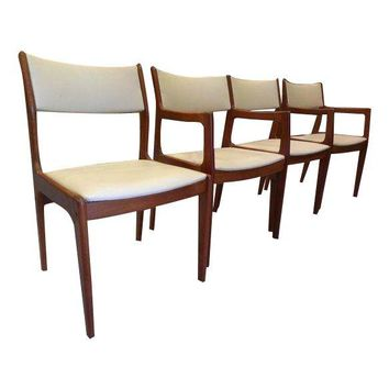 Pre-owned D-Scan Danish Teak Dining Chairs - Set of 4