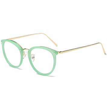 Round Women Eyeglasses Fashion Eyewear Optical Frame Clear Glasses SJ5001
