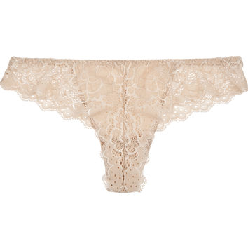 Simone Pérèle - Caresse stretch-lace and jersey briefs