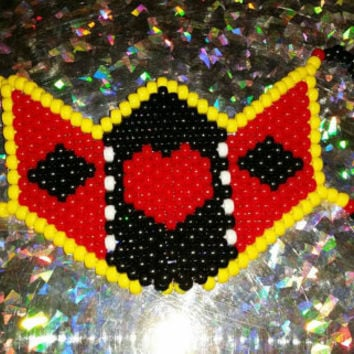 Queen of Hearts Kandi Rave Mask