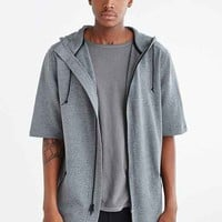 Feathers Short-Sleeve Zip Hooded