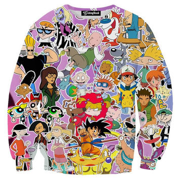 Nickelodeon Cartoon Crewneck