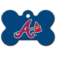 Atlanta Braves MLB Custom Engraved Dog ID Tag - Bone