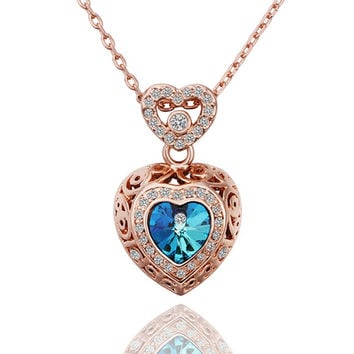 New 2016 Necklace Women jewelry 18K Gold necklaces & pendants USHGBCXZ