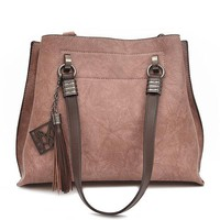 Stylish Bucket Bag PU Leather Handbag Shoulder Bags Crossbody Bags For Women
