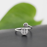 925 Sterling Silver 12 Constellation Ring (Gemini)
