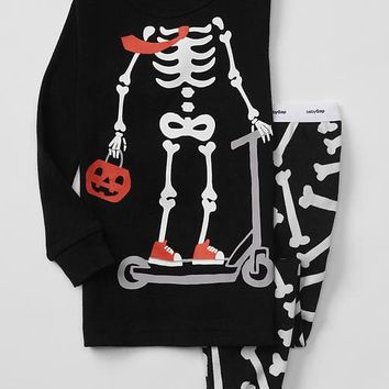 Halloween skeleton sleep set | Gap