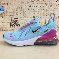 Nike Air Max 270 Women Light Blue Red Sport Running Shoes