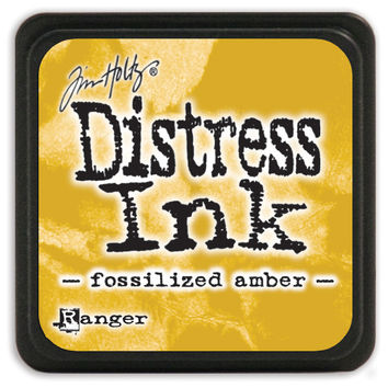 Distress Mini Ink Pad-Fossilized Amber