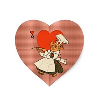Queen Of Hearts Mother Goose rhymes Art Heart Sticker