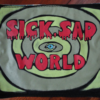 Sick Sad World logo Patch Daria