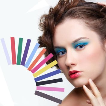 Fashion 12 Colors Temporary Hair Coloring Bar Non-Toxic Pastel Hair Chalkd Square Hair Dye Color Chalk 6.5x0.8cm