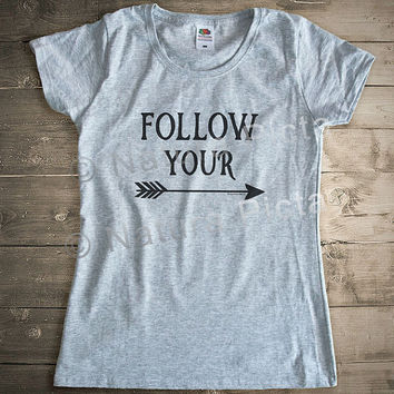 Follow your arrow quote t-shirt-arrows women t-shirt-arrows men tees-arrows tees-boho top vest-boho shirt-quote tshirt-NATURA PICTA NPTS030