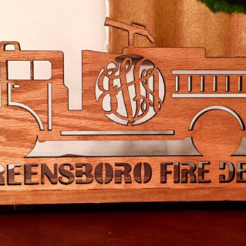 Personalized Fire Truck with Monogram