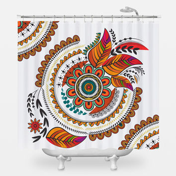 Autumn Mandala Shower Curtain