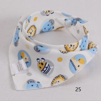 Cotton Newborn Baby Bibs Cute Feeding Bib Baby Nursing Bandana Burp Cloth For Girls And Boys Double Side 2 layers Baby Towel