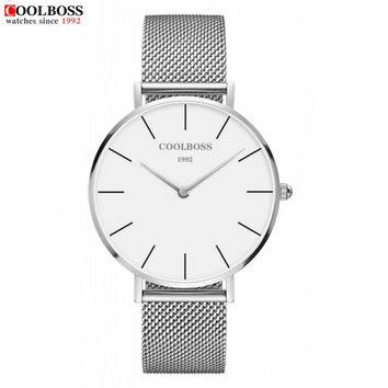2017 New Top Luxury Watch Men Brand Men's Watches Ultra Thin Stainless Steel Mesh Band Quartz Wristwatch Fashion casual watches