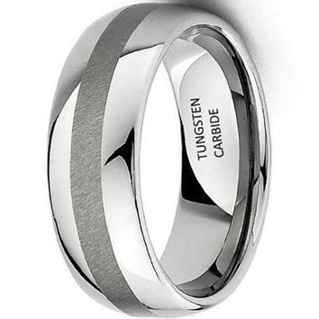 CERTIFIED 8mm Tungsten Wedding Band