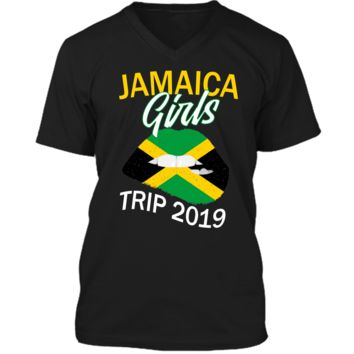 Jamaica Girls Trip 2019 T Shirt For Women Kids Mens Printed V-Neck T
