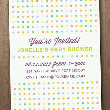 Dots Shower Invite