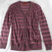 "~~ STRIPED SENSATION! ~~ MISSONI ""GOAT CASHMERE/SILK"" CARDIGAN/SWEATER ~ 40"