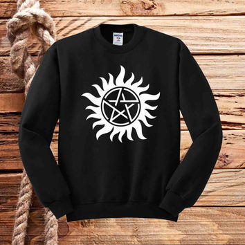 supernatural tattoo sweater unisex adults