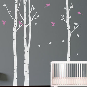 Birch Tree Vinyl Wall Decal Decals Nursery