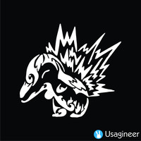 Pokemon Cyndaquil Game Decal Sticker