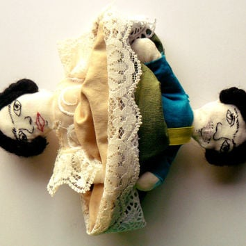 SALE The Two Fridas Topsy Turvy Art Doll