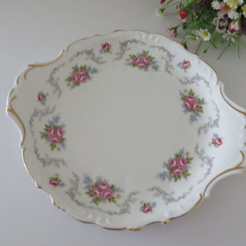 Royal Albert vintage 1960's cake plate called Tranquility