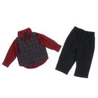 Nautica Plaid Infant Boys Pant Outfit