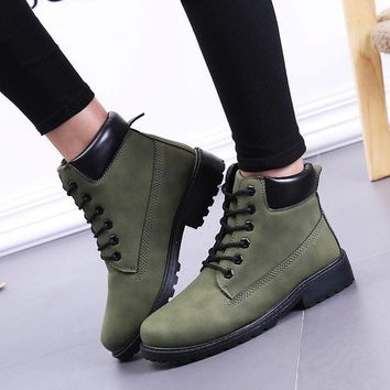 ac PEAPON Hot Deal On Sale Casual Dr. Martens Winter Training Flat Shoes Plus Size Boots [9252879500]