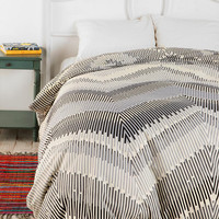 Urban Outfitters - Magical Thinking Linear Chevron Duvet Cover