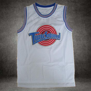 Space Jam anyname #22 Murray #1 Bugs #! TAZ #10 Lola #2 D.DUCK Basketball Jersey Tune Squad LOONEY TOONES Basketball Jerseys