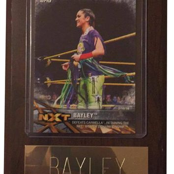 "Bayley 4"" x 6"" WWE Women's Wrestling Plaque"