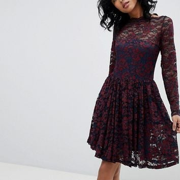 Ganni Flynn Lace Dress at asos.com