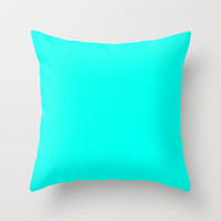 Turquoise blue Throw Pillow by List of colors