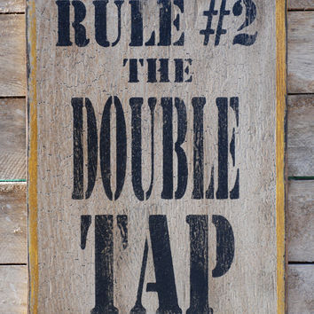 Rule number 2 zombie sign made from reclaimed by KingstonCreations