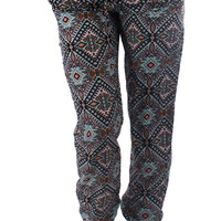 Multi Color Aztec Harem Pants
