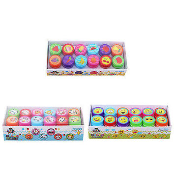 12x Cute Smile Smiley Face Stamps Set Stationery Kids Gift Party Toy Art CraftHU