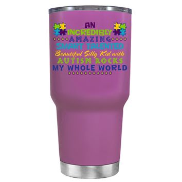 TREK An Amazing Smart Talented Kid with Autism on Light Violet 30 oz Tumbler Cup