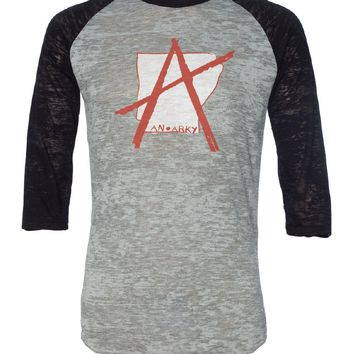 An Arky Burnout Baseball Tee