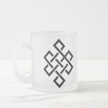Buddhist Mandala Icon meditation series Frosted Glass Coffee Mug