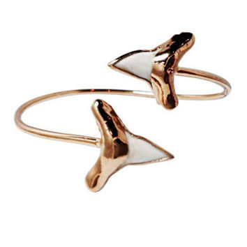 Adjustable 14k Gold Dipped Genuine Shark Tooth Cuff