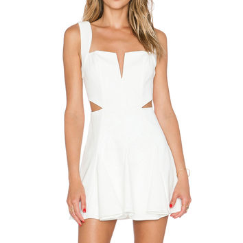 NBD x REVOLVE Sway Me Fit & Flare Dress in White