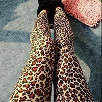 Leopard-Print Leggings
