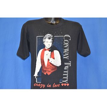 90s Conway Twitty Crazy in Love t-shirt Medium