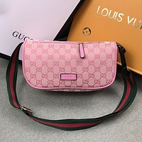 Gucci Woman Men Fashion Leather Waist Bag Satchel Crossbody Shoulder Bag